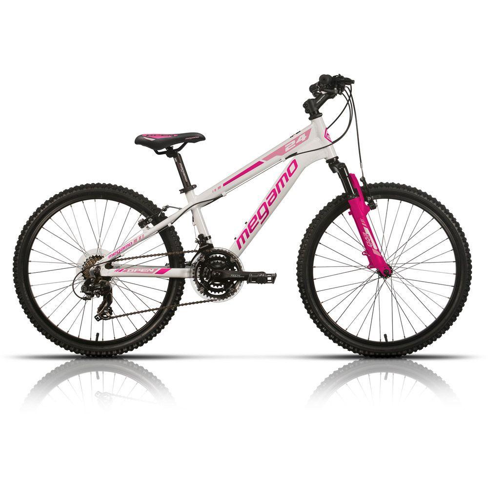 Bicicleta Mtb Megamo Open Junio 24 2017 blanca rosa