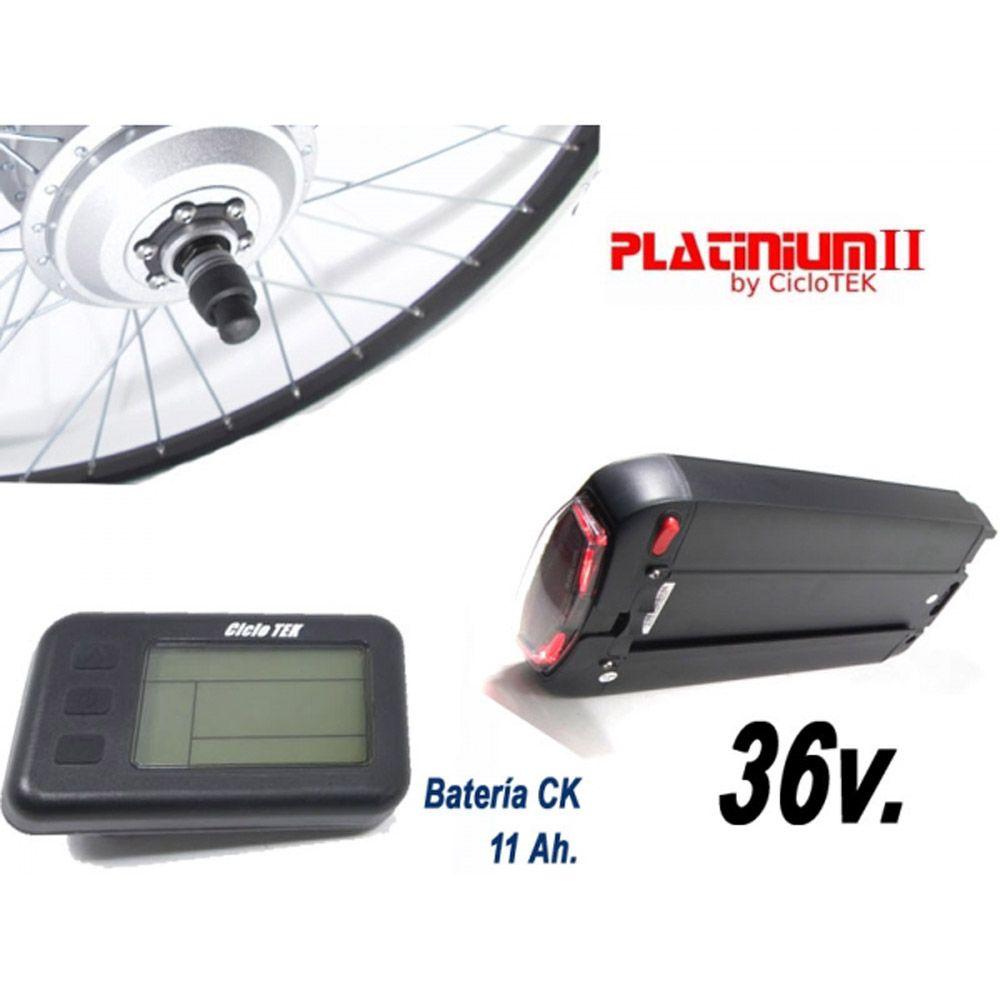Kit Eléctrico Ciclotek Platinium LCD5 Bateria CK 36V 11Ah kit