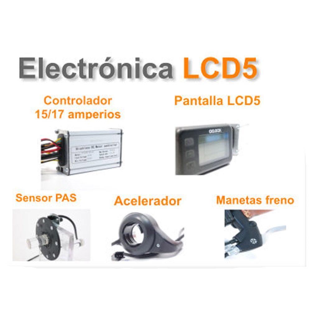 Kit Eléctrico Ciclotek Platinium LCD5 Bateria CK 36V 11Ah electronica