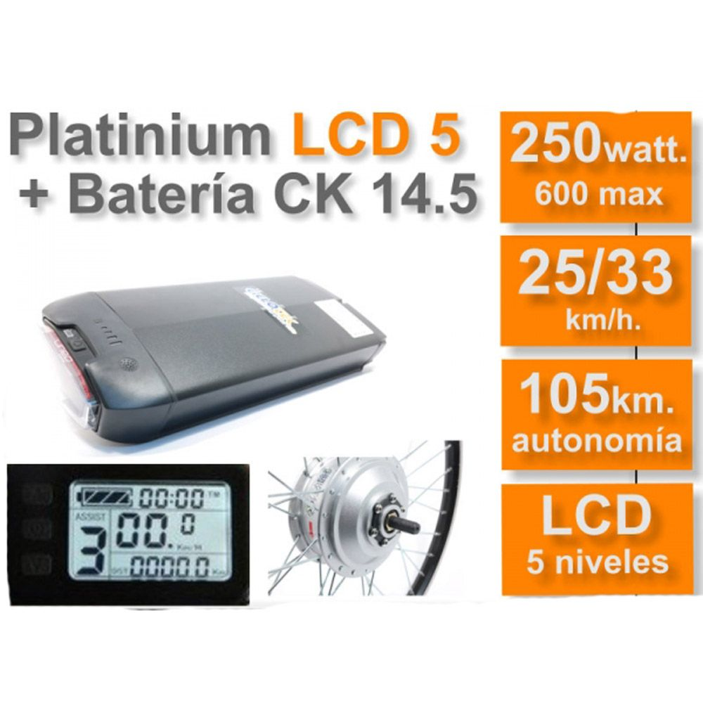 Kit Eléctrico Ciclotek Platinium LCD5 Bateria CK 36V 14.5Ah