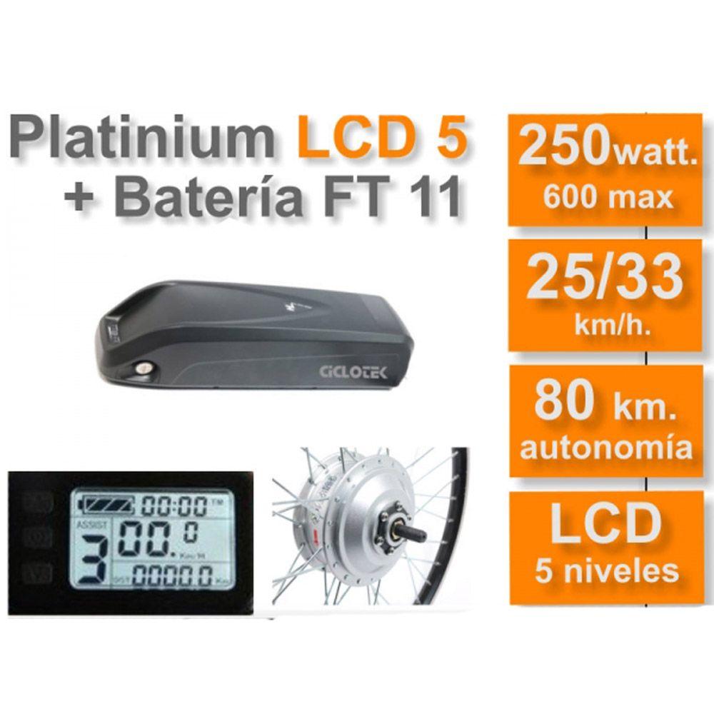 Kit Eléctrico Ciclotek Platinium LCD5 Bateria FT 36V 11A