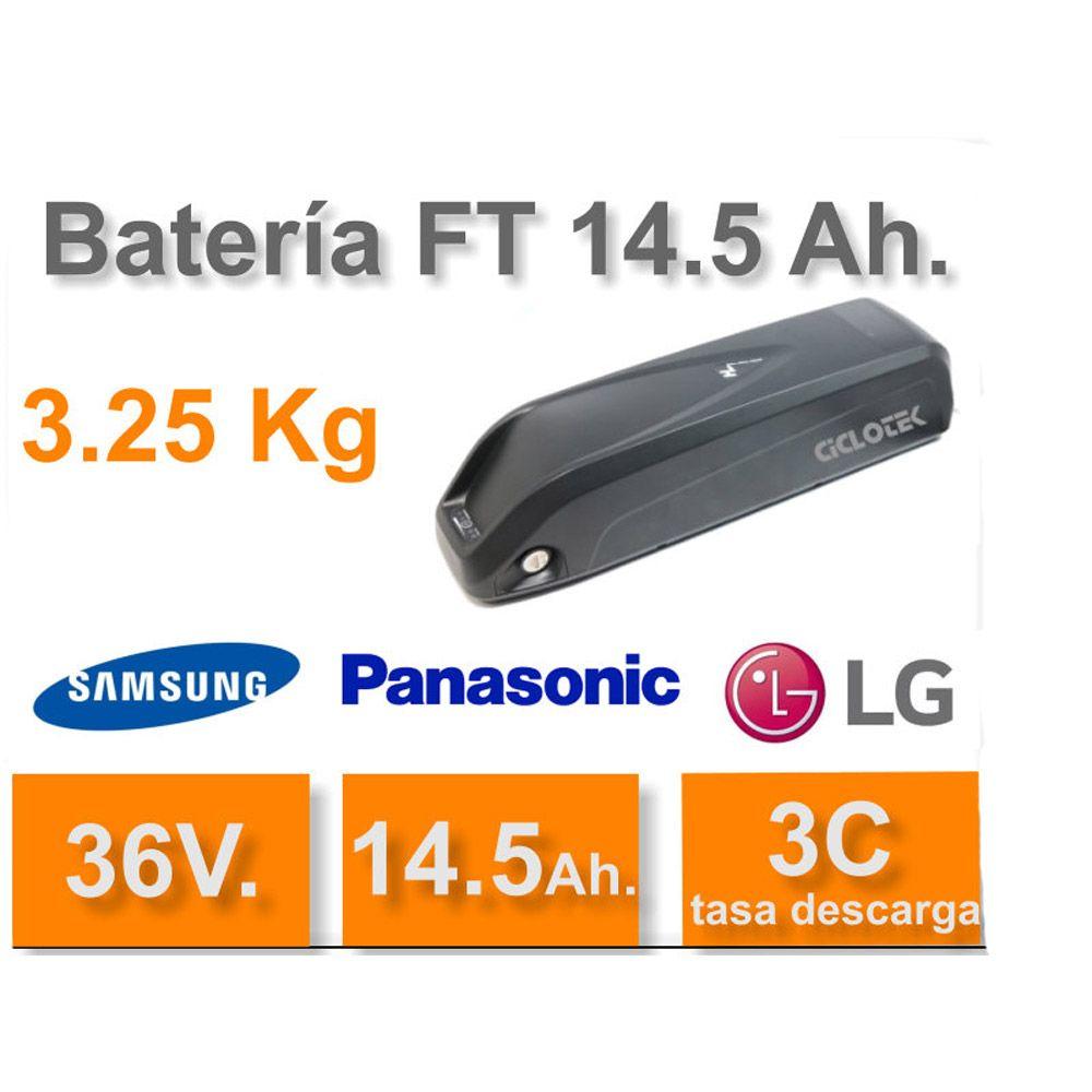 Kit Eléctrico Ciclotek Platinium LCD5 Bateria FT 36V 14.5A kit