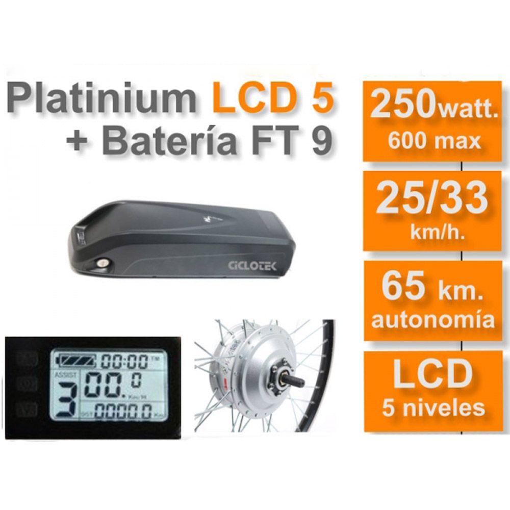 Kit Eléctrico Ciclotek Platinium LCD5 Bateria FT 36V 9A