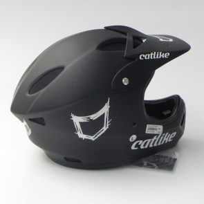 Casco DH Catlike Gravity Negro vista lateral