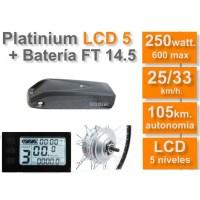 Kit Eléctrico Ciclotek Platinium LCD5 Bateria FT 36V 14.5A