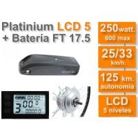 Kit Eléctrico Ciclotek Platinium LCD5 Bateria FT 36V 17.5A